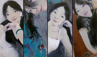 心情四重 THOSE DAYS 50X100CM 布面油画 OIL ON CANVAS 2007