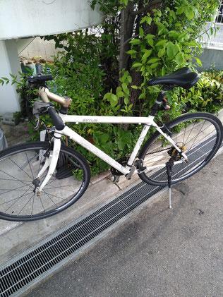 自転車を仕事に活かしています クロスバイク シラス