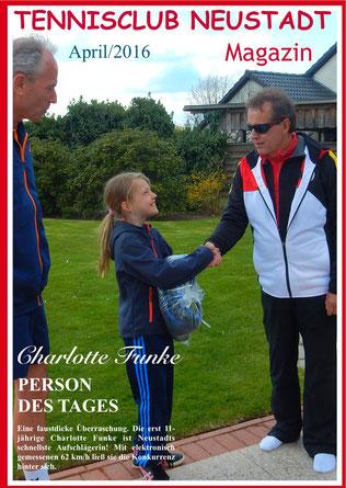Charlotte Funke gewann den Wettbewerb - Schnellster Aufschlag