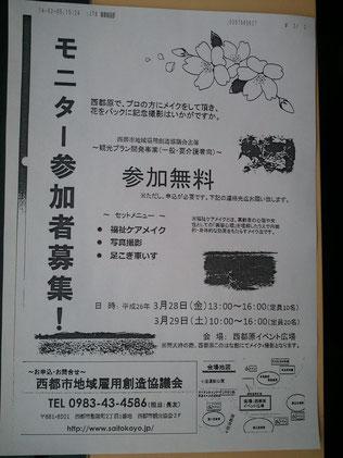 足こぎ車椅子宮崎モニター