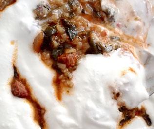 Spinat mit Joghurt