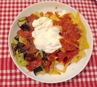 Karisik Kizartma (frittiertes Gemüse mit Joghurt nach türkischem Rezept)