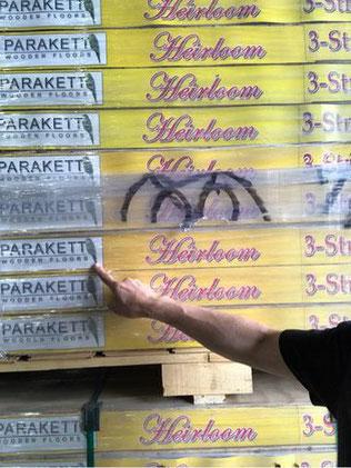 英国 Parrott Flooring社製 セントグレイン3層床 スチームドビーチ材フローリング ※土足、床暖対応品。  3,710円(平米単価)税込み 運賃別