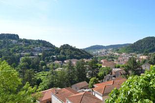Les vallées de la Volane et de l'Ardèche depuis les gîtes