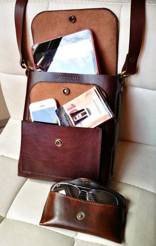 borsello borsetto tracolla in cuoio