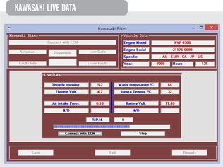 Screen Shot Kawasaki Live Data