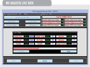 Screen Shot MV Augusta Live Data