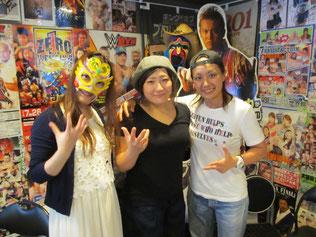 (左から)フェアリー日本橋選手、下野佐和子選手、山縣優選手