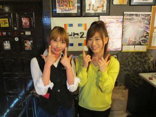 (左から)テキーラ沙弥選手、藤本つかさ選手