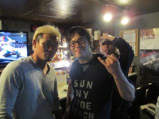 酒呑童子(左から、坂口征夫選手、KUDO選手、マサ高梨選手)