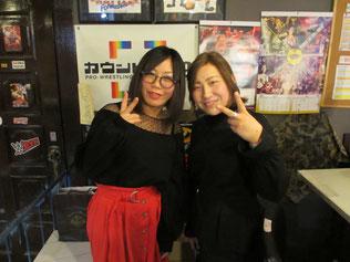 (左から)飯田美花選手、下野佐和子選手