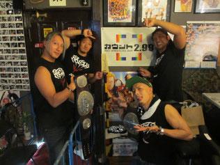 (左から)HAYATA選手、原田大輔選手、タダスケ選手、YO-HEY選手