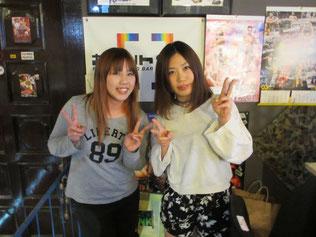 (左から)長浜浩江選手、飯田美花選手