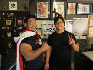 (左から)関本大介選手、野村卓矢選手