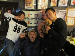 (左から)GO浅川選手、最上九選手、ダイナソー拓真選手、吉田綾斗選手
