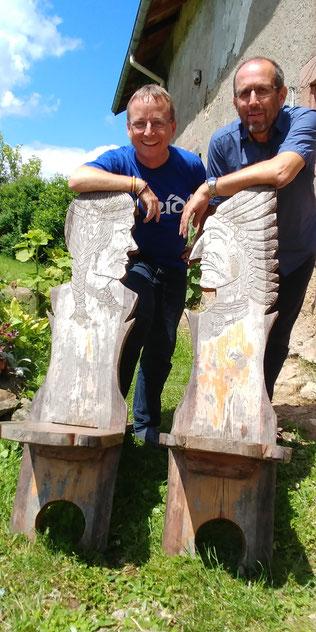 Stefan Spiecker und Peter Engel führen durch den Retreat