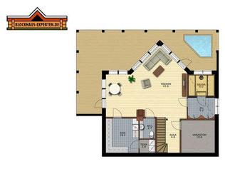 Hausentwurf: Optional Wohnkeller mit Wellness -Grundriss