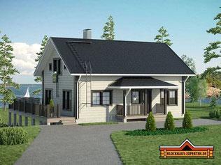 Blockhaus als Hanghaus mit Wohnkeller