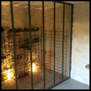 Verrière structure métallique pour cave déco, l'atelier déco