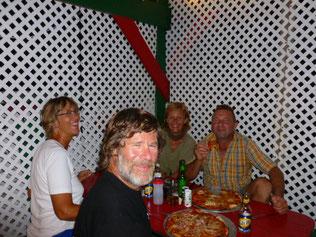 Pizza essen mit René und Marion von der Mira