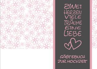 Gästebuch Hochzeit Ringbuch 2 Herzen