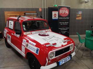 4L Trophy 2019 - Liberty, la voiture de l'équipe Math & Nico lors de l'émission de présentation sur Radio RPA
