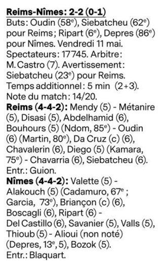 CHAMPIONNAT DE DOMINO'S LIGUE 2 / SAISON 2017-2018 / J 38: STADE DE REIMS  / NIMES OLYMPIQUE - Page 2 Image
