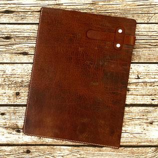 Dokumentenmappe / Briefecke aus Leder