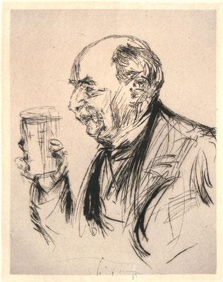 Edgar Mareuse, portrait à l'eau forte par Paul Renouard (1845-1924)