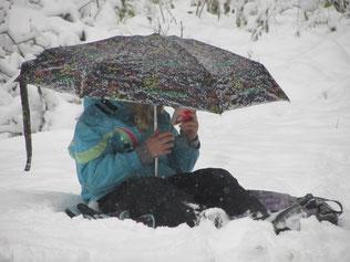 Lecture dans et sous la neige
