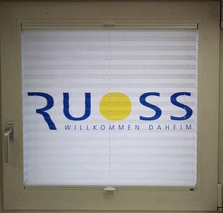 Plissee / individueller Druck auf Plissee / Vorhänge by Ruoss / Vorhangfachgeschäft