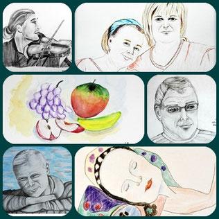 Alle Bilder sind zu sehen in den Galerien oder im Blog Malerei