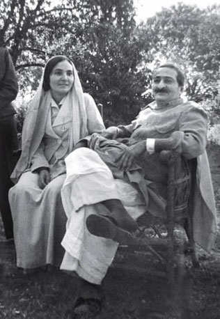 India : Meher Baba with Mehera Irani