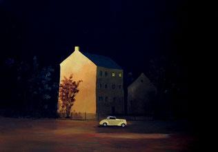 """Martin Guido Becker, """"Trabantenstadt"""", 2010, Öl/Lwd, 60/80 cm"""