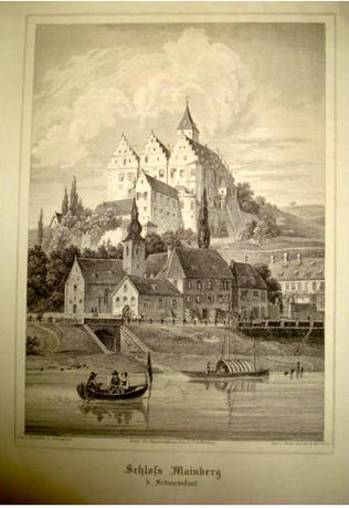 Schloss Mainberg im Jahre 1890