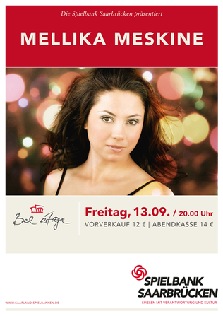 MELLIKA Acoustic Quartet Live13.09.13 Spielbank Saarbrücken