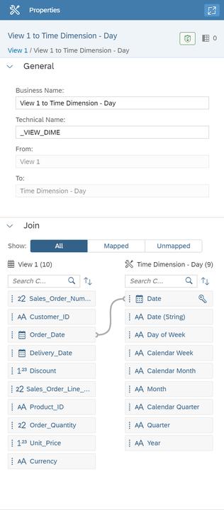 SAP Data Warehouse Cloud Join between view and association target
