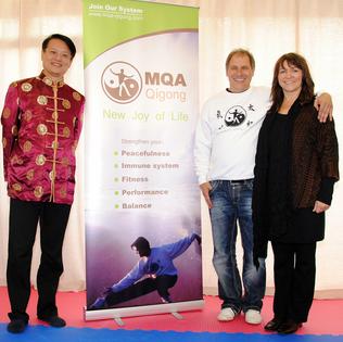 Großmeister Qingshan Liu, Martin Mittermeier, Anita Mittermeier-Breitner