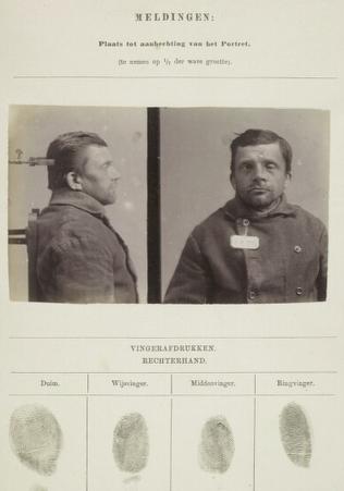 Signalementkaart Veenhuizen opname 13-08-1896