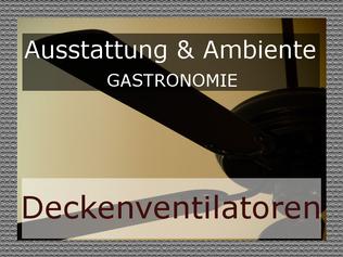 Deckenventilatoren Gastronomie