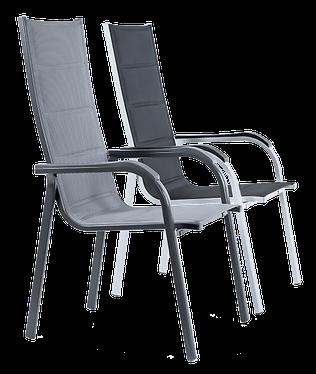 Stapelstuhl aus Aluminium mit Textilbezug - HEIMWERK Baumarkt Genthin
