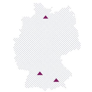 Standorte der LOOXR Service-Dienstleister