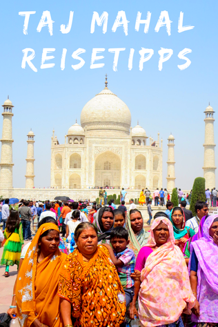 Taj Mahal Reise Spiegelbild im Wasser
