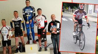 """""""G2J"""" sur le podium et """"Micka"""" sur le vélo...!"""