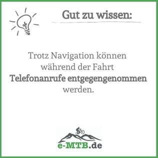 Gut zu wissen: Telefonie während Navigation ist möglich