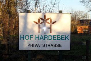Schild Hof Hardebek
