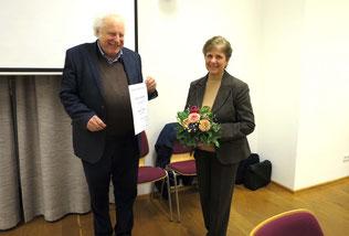 Barbara Novak wurde für 25-jährige Mitgliedschaft geehrt