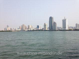 Nicht Hongkong, sondern Xiamen in der Provinz Fujian im Südosten Chinas im Frühjahr 2014.
