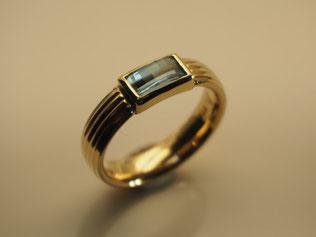 Ring, Aquamarin, Gold
