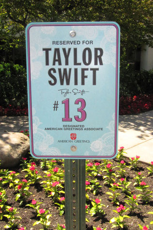 Taylor's Parking Spot at the American Greetings HQ